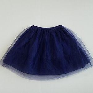 Mini Boden navy tulle skirt size US 5-6